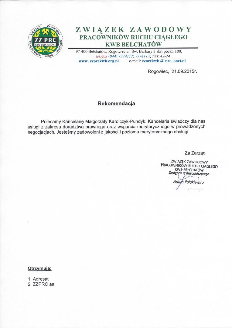 Związek Zawodowy Ruchu Ciągłego KWB Bełchatów